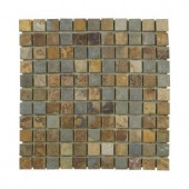 Jeffrey Court Mosaic 12 in. x 12 in. Slate Wall and Floor Tile