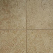 Innovations Tumbled Travertine 8 mm Thick x 11-3/5 in. Wide x 46-3/10 in. Length Click Lock Laminate Flooring (18.56 sq. ft. / case)