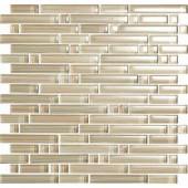 EPOCH Brushstrokes Chiarro-1502-S Strips Mosaic Glass 12 in. x 12 in. Mesh Mounted Tile (5 Sq. Ft./Case)