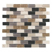 Jeffrey Court Cedar Cove 1x2 12 in. x 12 in. Glass and Stone Wall Tile