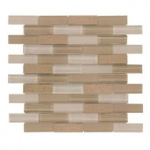 Jeffrey Court Lamport 1x3 12 in. x 12 in. Stone and Glass Wall Tile