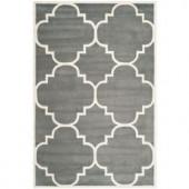 Safavieh Chatham Dark Grey/Ivory 6 ft. x 9 ft. Area Rug
