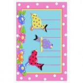 LA Rug Inc. Jade Reynolds Swing-in Chicks Multi Colored 39 in. x 58 in. Area Rug