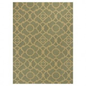 Kas Rugs Chateau Green/Beige 5 ft. x 7 ft. Area Rug