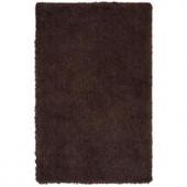 LR Resources Senses Shag Tri-Chocolate 7 ft. 9 in. x 9 ft. 9 in. Plush Indoor Area Rug