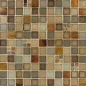 MS International Manhattan Blend Glass Mesh-Mounted Mosaic Wall Tile