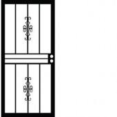 Grisham 501 Series Genesis 28 in. x 80 in. Steel Black Prehung Security Door
