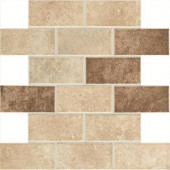Daltile Santa Barbara Pacific Sand 12 in. x 12 in. x 6 mm Universal Mosaic Floor and Wall Tile