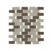Jeffrey Court Silver Screen 11 in. x 11.75 in. Glass/White Marble/Metal Mosaic Wall Tile