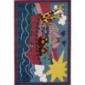 LA Rug Inc. Fun Time Noah's Ark Multi Colored 31 in. x 47 in. Accent Rug