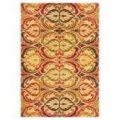 Kas Rugs Tapestry Leaf Jewel 7 ft. 10 in. x 9 ft. 10 in. Area Rug